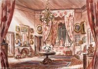 immagine Nandy castle (Ile-de-France), second sketch for the grand mother's bedroom