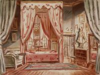 immagine Nandy castle (Ile-de-France), sketch for the grand mother's bedroom